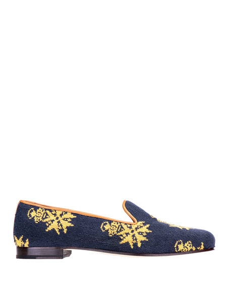 Stubbs and Wootton Medal Needlepoint Slippers