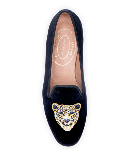 Stubbs and Wootton Cat Velvet Slippers