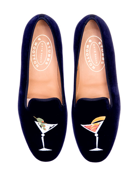 Stubbs and Wootton Martini Velvet Slippers