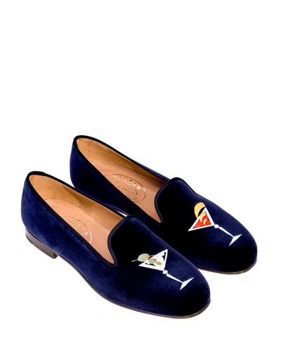 Martini Velvet Slippers
