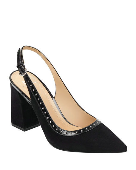 Marc Fisher LTD Joi Studded Slingback Pumps