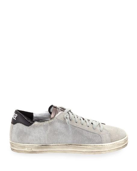 P448 John Calf Hair Low-Top Sneakers