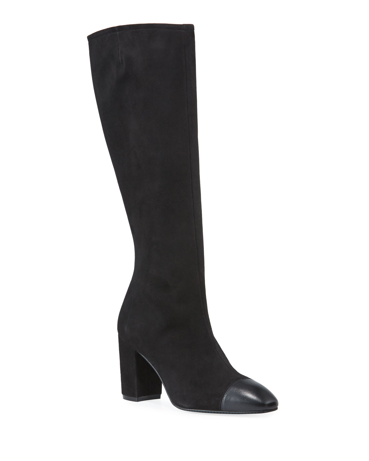 Jacinda Suede & Napa Leather Knee Boots by Stuart Weitzman
