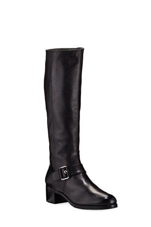 Gravati Tall Napa Buckle Riding Boots