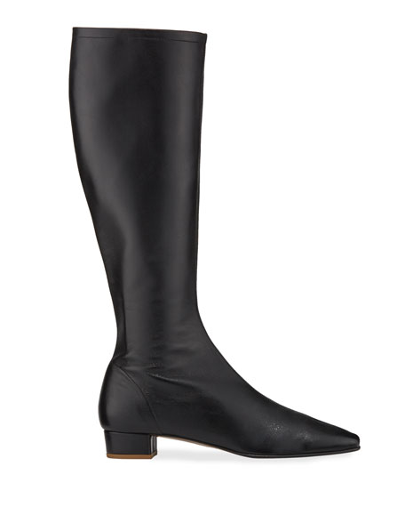 Image 2 of 3: BY FAR Edie Leather Knee Boots