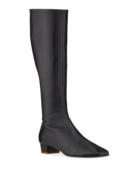 Image 1 of 3: BY FAR Edie Leather Knee Boots
