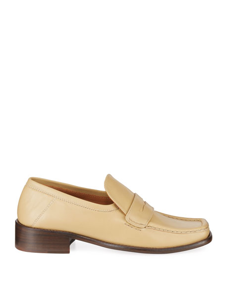 BY FAR Britney Leather Loafers