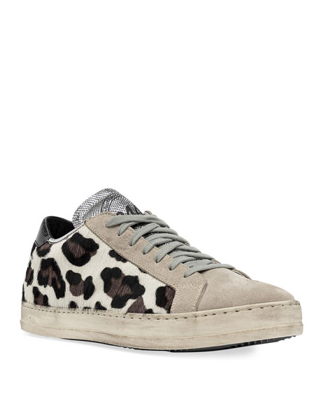 P448 Sneakers JOHN LEOPARD LOW-TOP SNEAKERS
