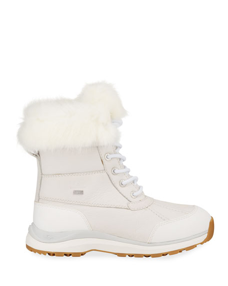 UGG Adirondack Fluff Lace-Up Booties