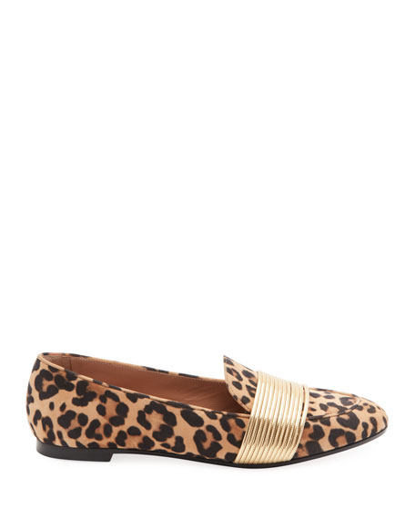 Aquazzura Rendez Vous Jaguar Suede Loafers