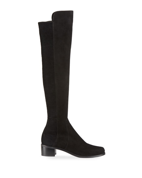 Stuart Weitzman Reserve Stretch-Suede Knee Boots
