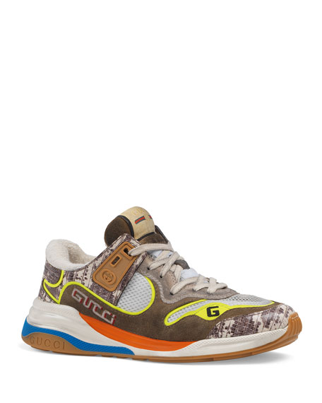 Gucci G-Line Mixed Media Sneakers