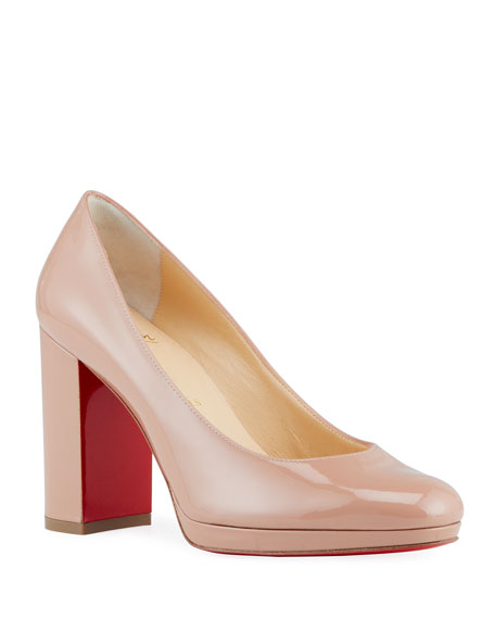 Christian Louboutin Kabetts Patent Red Sole Pumps