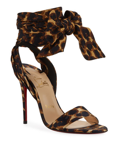 Sandale Du Desert Leopard Red Sole Sandals