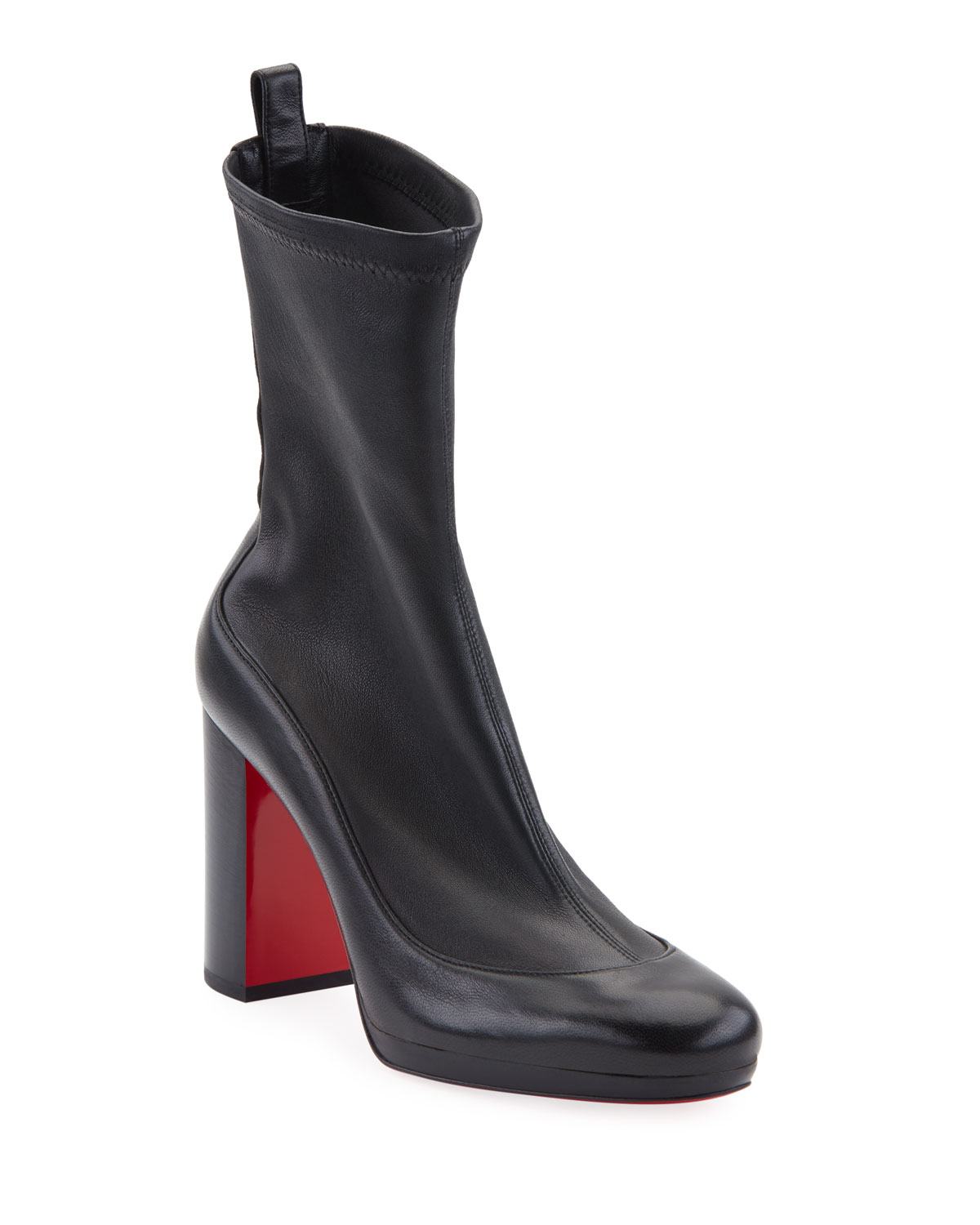 Contrevent Stretch Red Sole Booties by Christian Louboutin