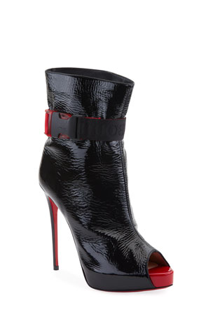 Christian Louboutin Telesiege Alta Red Sole Booties