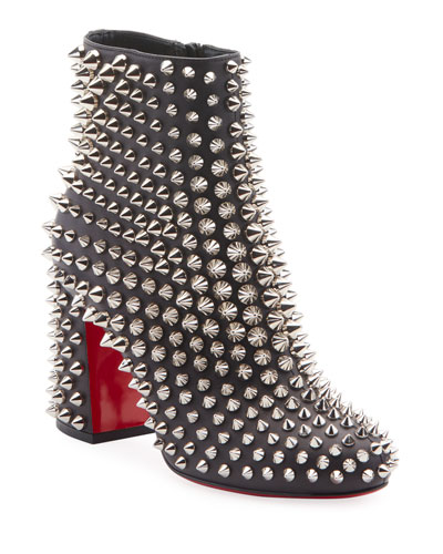Louise Capet Spike Red Sole Booties
