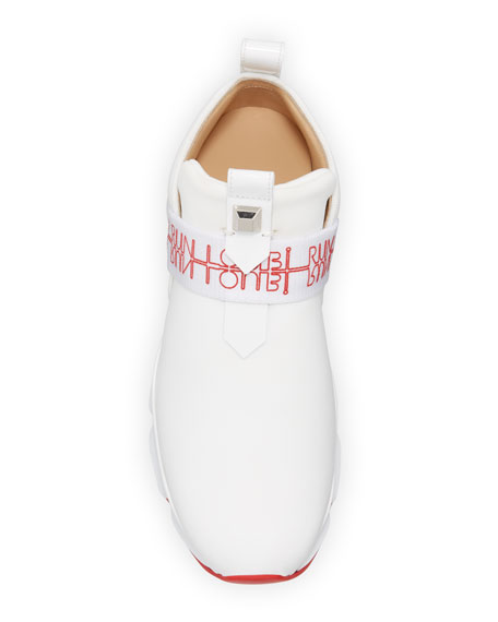 Christian Louboutin Lipsy Run Flats Red Sole Sneakers