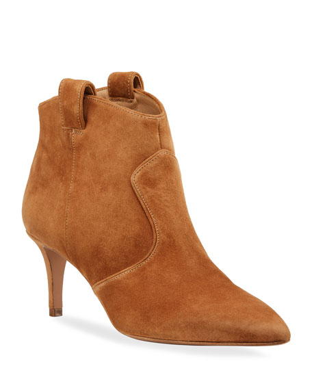 Veronica Beard Boots LEXI SUEDE TABBED BOOTIES
