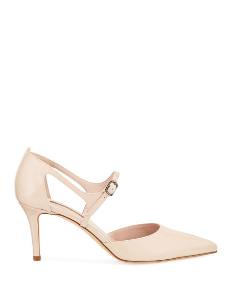 Image 2 of 3: Phoebe Patent Pointed Pumps