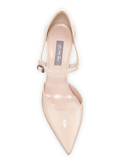 Image 3 of 3: Phoebe Patent Pointed Pumps