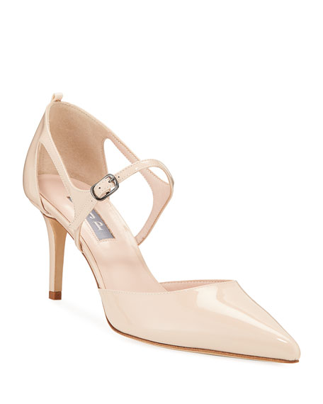 Image 1 of 3: Phoebe Patent Pointed Pumps