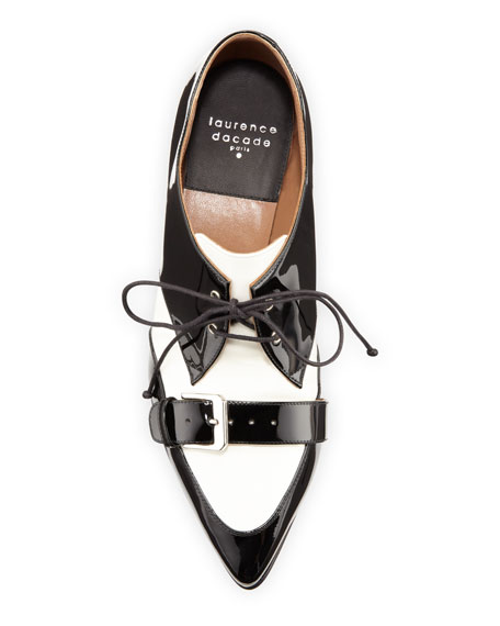 Laurence Dacade Voltaire Two-Tone Belted Lace-Ups