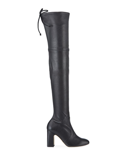 Stuart Weitzman Kirstie Stretch Leather Over-The-Knee Boots