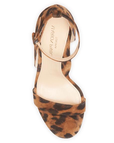 Marion Parke Larkspur Leopard-Print Suede Sandals