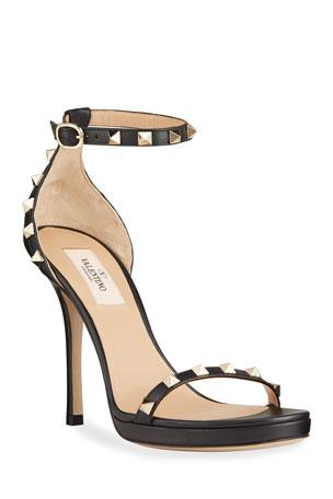 Valentino Garavani Rockstud Leather Platform Stiletto Sandals