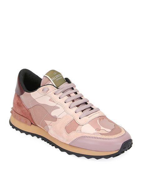 Image 1 of 3: Rockrunner Camo Lace-Up Sneakers