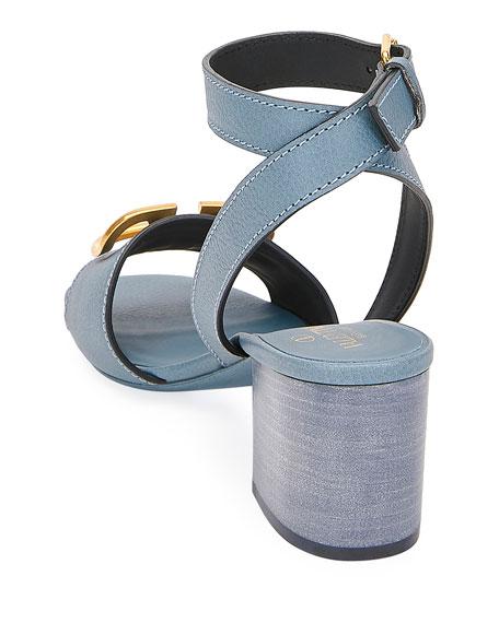 Valentino Garavani VLOGO Ankle-Strap Sandals