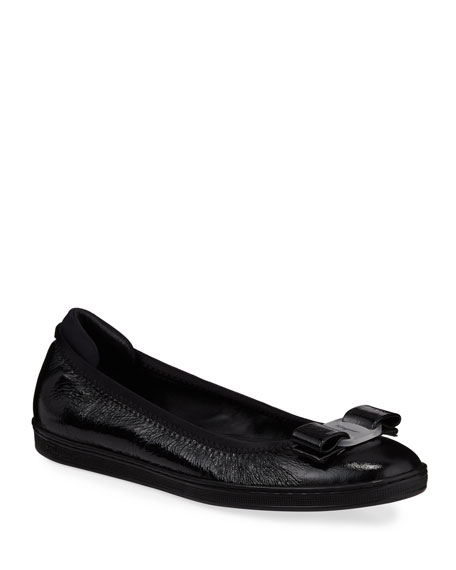 Salvatore Ferragamo Savina Sneaker-Style Ballet Flats
