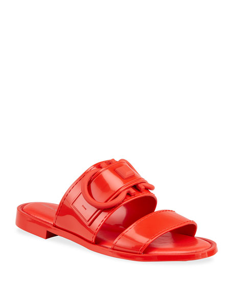 Salvatore Ferragamo Taryn Jelly Gancini Slide Sandals