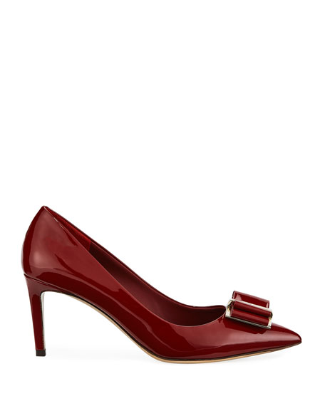 Image 2 of 3: Zeri Patent Leather Vara Bow Pumps