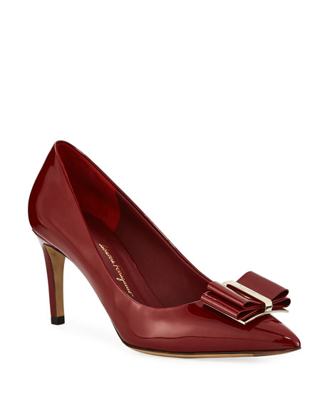 Image 1 of 3: Zeri Patent Leather Vara Bow Pumps