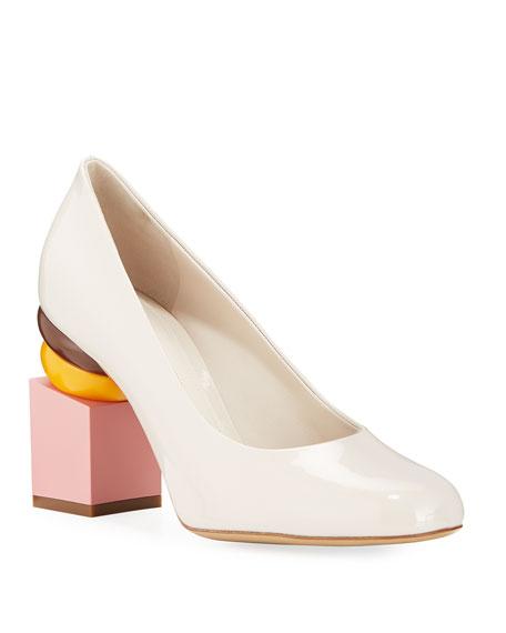 Salvatore Ferragamo Shoes Lotten Pumps with Heel Detail