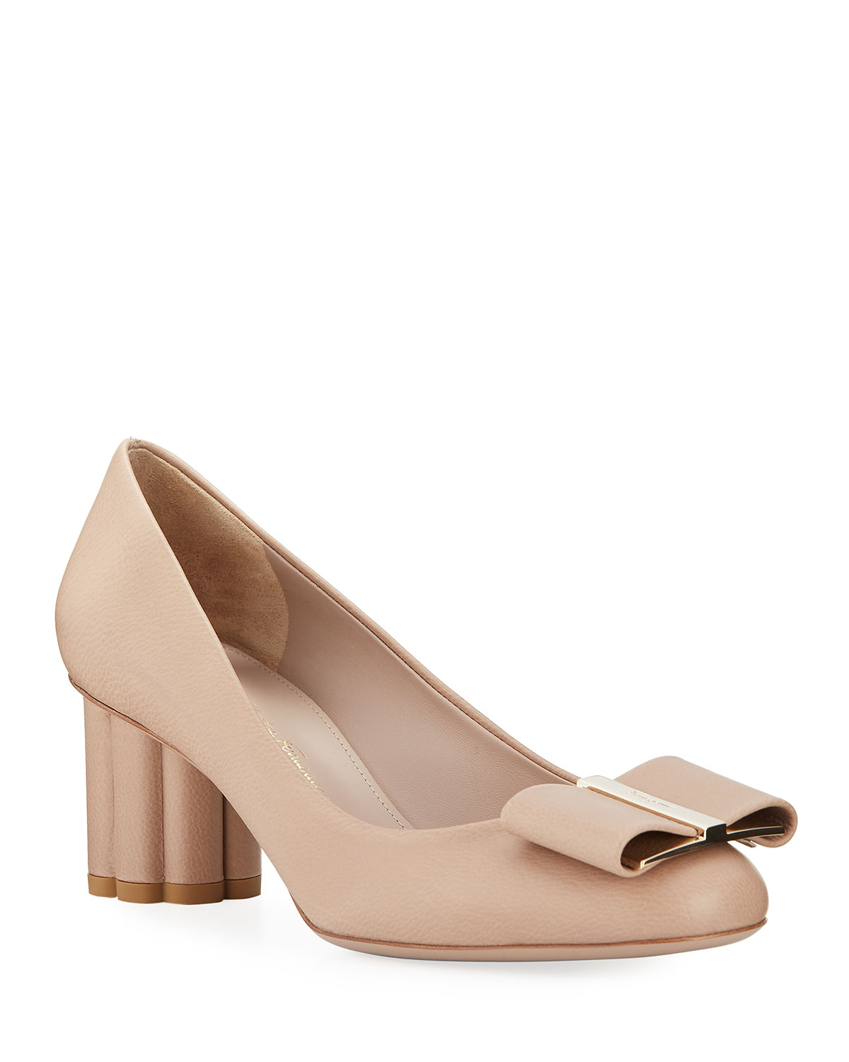Capua Leather Bow Pumps by Salvatore Ferragamo
