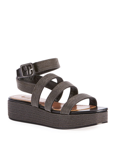 Beaded Platform Sandals