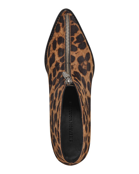 Sigerson Morrison Hamishly Leopard-Print Zip Booties