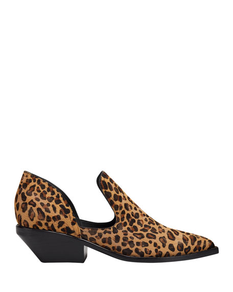 Sigerson Morrison Tabathaly Leopard-Print Cutout Ankle Booties