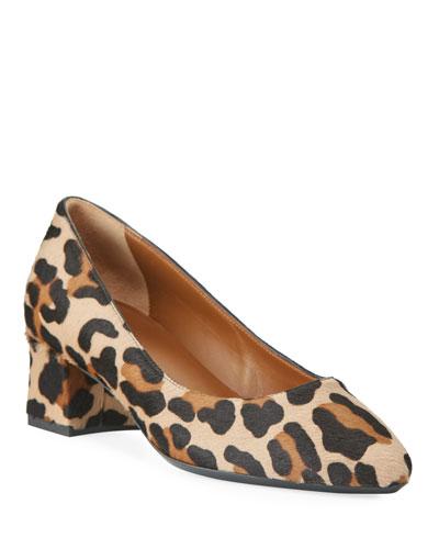 Pasha Leopard Hair Calf Pumps