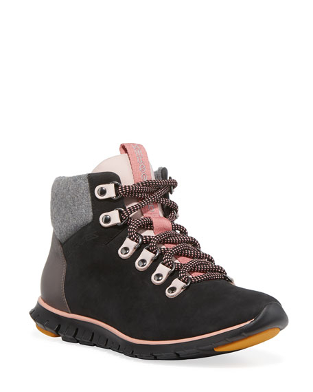 Cole Haan Zerogrand Leather & Wool Hiker Boots