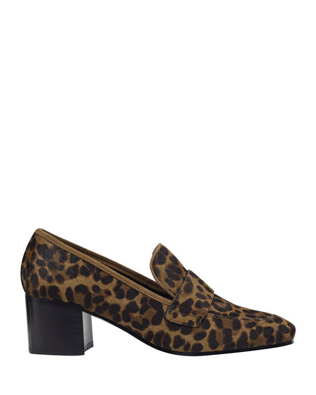 Image 2 of 4: Marc Fisher LTD Hudsonly Leopard Calf Hair Dress Loafers