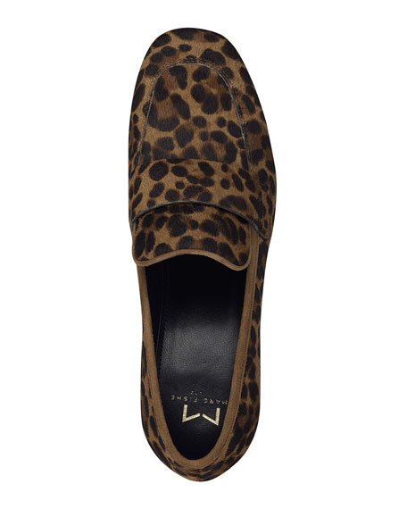 Image 3 of 4: Marc Fisher LTD Hudsonly Leopard Calf Hair Dress Loafers