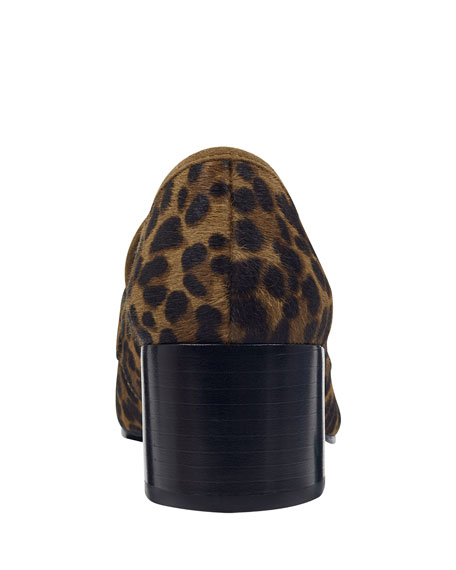 Image 4 of 4: Marc Fisher LTD Hudsonly Leopard Calf Hair Dress Loafers