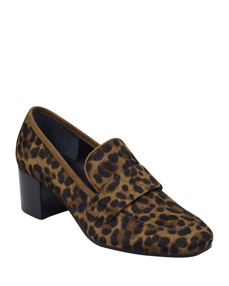 Image 1 of 4: Marc Fisher LTD Hudsonly Leopard Calf Hair Dress Loafers