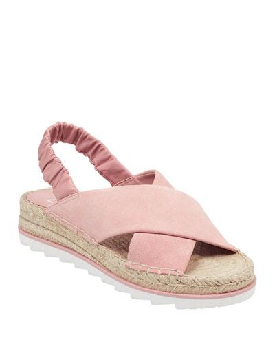 Pella Suede Espadrille Sandals