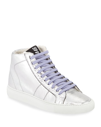 Star 2.0 High-Top Metallic Sneakers