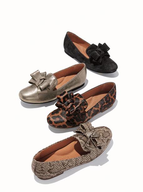 Gentle Souls Eugene Ribbon Bow Leopard Loafers